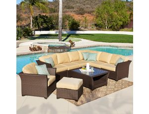 Mission Hills Avalon Bay Modular Seating Set 9 Piece
